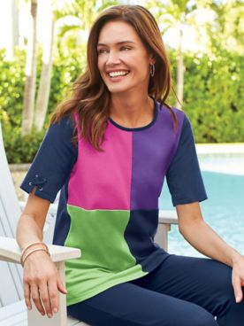 Fresh Colorblock Top