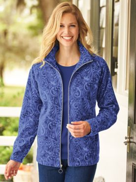 Printed Scandia Woods Fleece Jacket