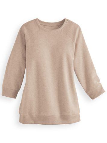 Better-Than-Basic Heathered Fleece Sweatshirt  - Image 4 of 4