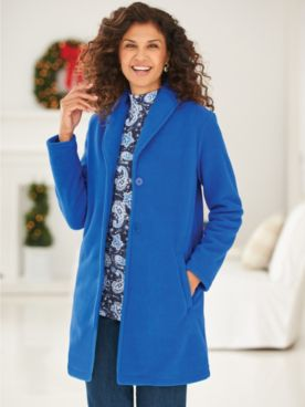 Scandia Fleece Button-Front Jacket