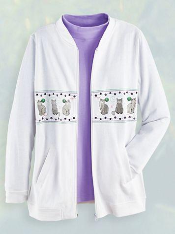 Embroidered Fleece Jacket