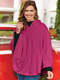 Sherpa Fleece Poncho