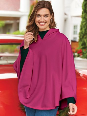 Sherpa Fleece Poncho - Image 1 of 5