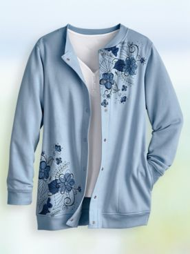 Floral Print Fleece Jacket