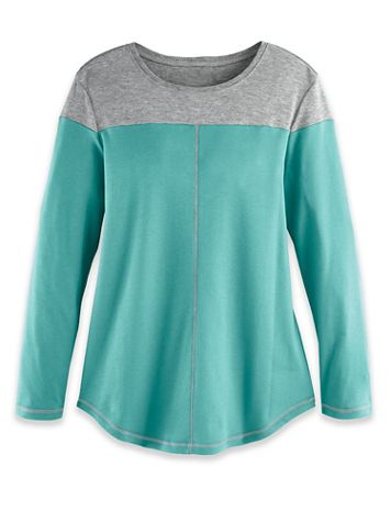 Fresh Knit Long-Sleeve Colorblock Tunic - Image 4 of 6