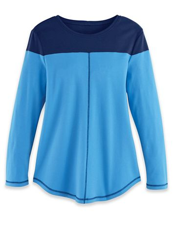 Fresh Knit Long-Sleeve Colorblock Tunic - Image 4 of 4