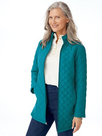 Diamond-Quilted Insulated Jacket - Image 1 of 4