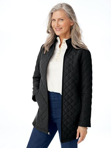 Diamond-Quilted Insulated Jacket - Image 3 of 3