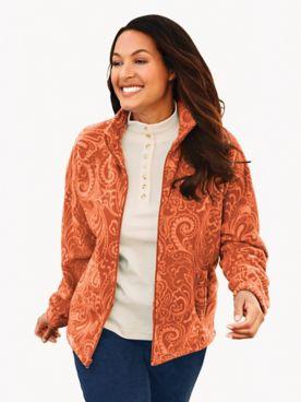 Printed Scandia Fleece Jacket