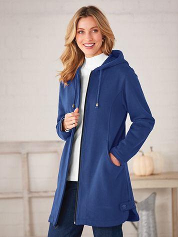 Button-Trim Fleece Jacket - Image 3 of 3