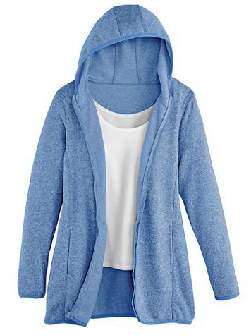 Hooded Sweater-Fleece Jacket - Image 1 of 3