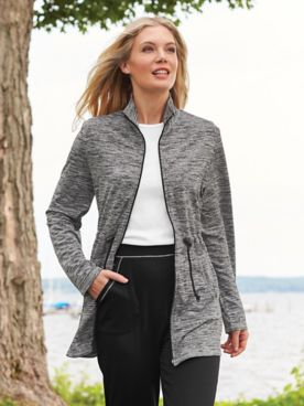 Contrast-Stitch Active Jacket