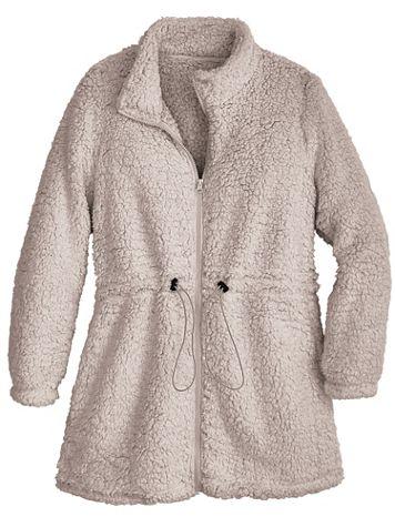 Sherpa Fleece Anorak Jacket - Image 2 of 2