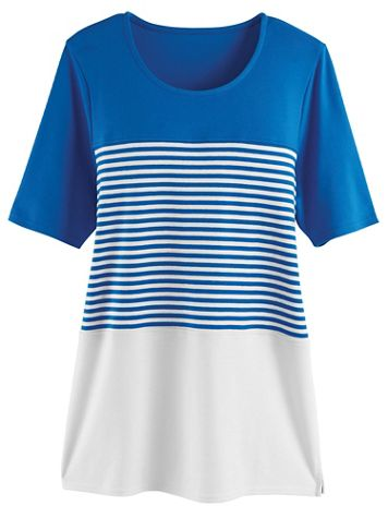Colorblock Stripe Tunic - Image 1 of 4