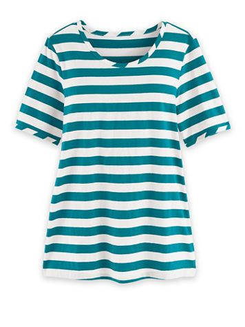 Short-Sleeve Stripe Active Top - Image 2 of 3