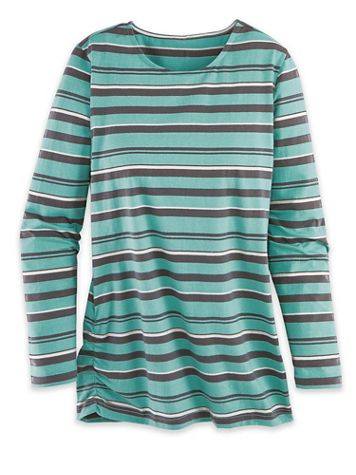 Long-Sleeve Striped Active Top - Image 2 of 2