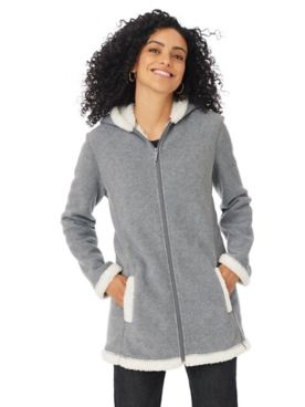 Totes Sueded Fleece-Lined Jacket