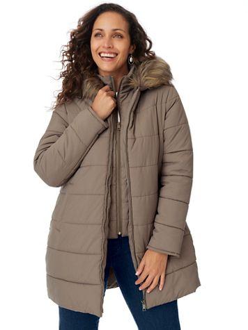 Below Zero Faux Fur Jacket with Vestee - Image 1 of 4