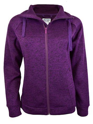 Full-Zip Heather Fleece Jacket - Image 1 of 4