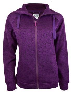 Full-Zip Heather Fleece Jacket
