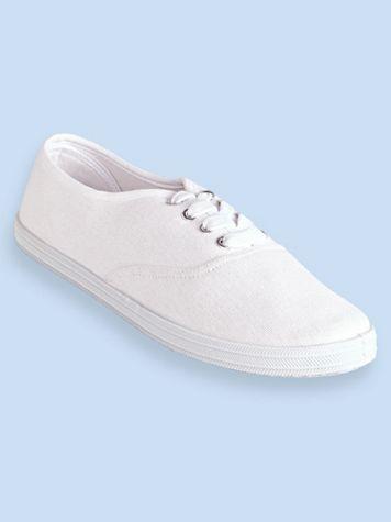 "ComfortEase® ""Kelly"" Canvas Tie Sneakers - Image 7 of 10"