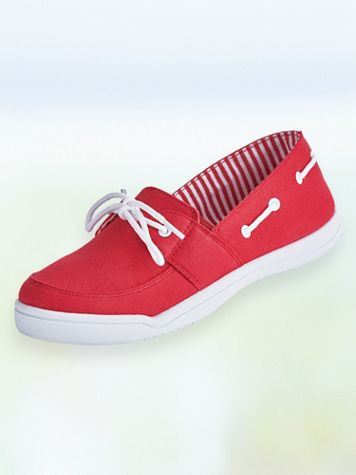 """ComfortEase® """"Christa"""" Canvas Boat Shoes - Image 2 of 3"""