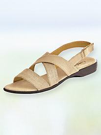 Canvas Criss-Cross Strap Sandals
