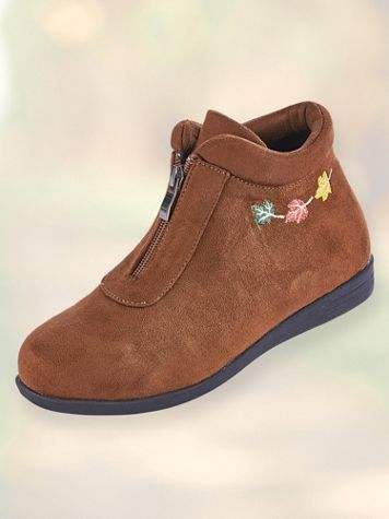 Leaf Embroidered Boots by Beacon® - Image 2 of 2