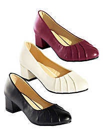 Pleated Vamp Pumps by Classique®
