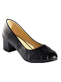 Pleated Vamp Pumps by Classique® by Old Pueblo Traders