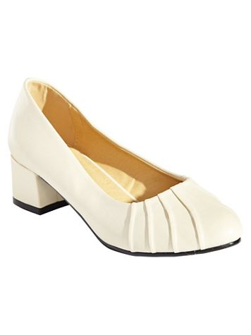 Pleated Vamp Pumps by Classique® - Image 3 of 3