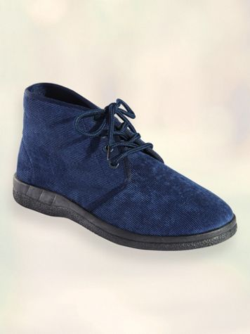 Corduroy Lace-Up Comfort Boots - Image 1 of 5