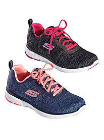 Skechers® Flex Appeal 3.0 Jersey Lace-Up