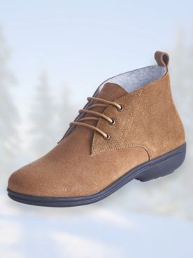 Sherpa Lined Lace-Up Boots