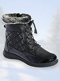 Lindsey Lace-Up Boots by Totes® by Blair