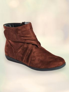 Marty Microsuede Velcro Boots by Beacon®