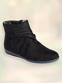 Marty Microsuede Velcro Boots by Beacon® by Blair