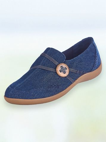 """Maggie"" Woven Slip-Ons - Image 1 of 5"