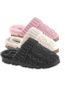 Sweater-Knit Slippers By Sporto®