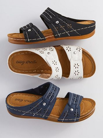 Cash Slip-On Sandals by Easy Street - Image 1 of 4