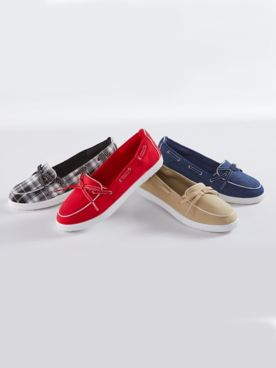 Claire Canvas Boat Shoes