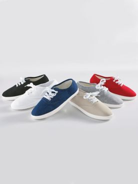 Canvas Tie Sneakers