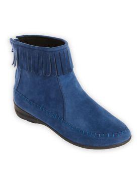 Fringe-Trim Boots by Classique®