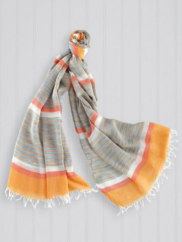 Multi Striped Scarf - Image 1 of 3