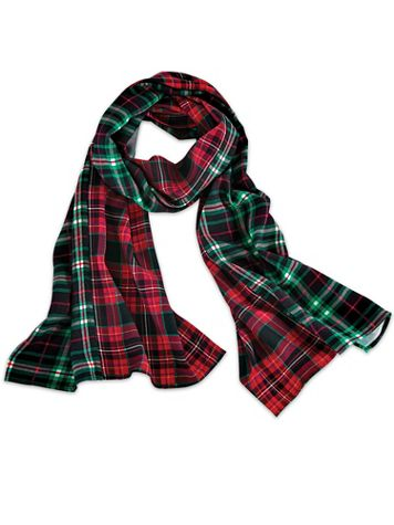 Mixed Media Plaid Scarf - Image 2 of 2