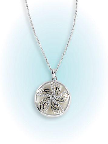 Opalesque Floral Necklace