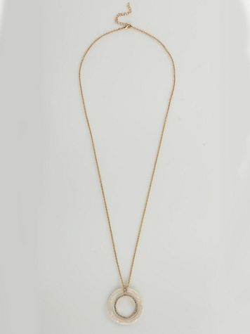 Double Circle Pendant Necklace - Image 1 of 1