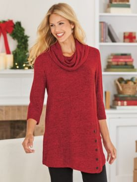 Touchably Soft Heathered Tunic