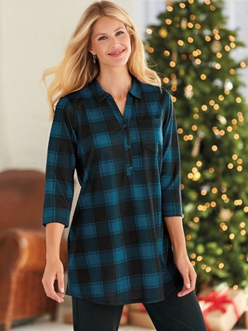 Cozy Fleece Plaid Big Shirt