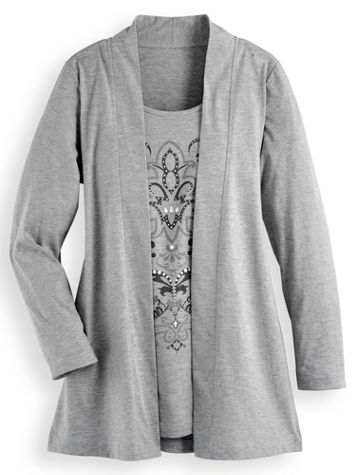 Print 2-In-1 Tunic - Image 0 of 1
